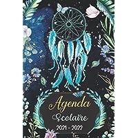 Agenda scolaire 2021 - 2022: Planificateur journalier Attrape-rêves Dreamcatcher nature fleurs aquarelle plantes magique…