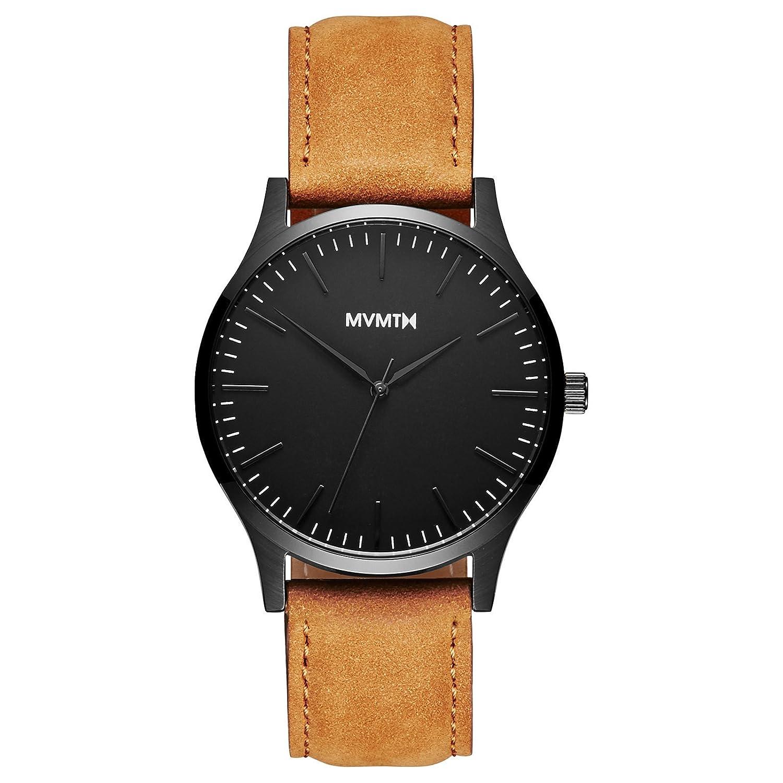 MVMT Watch Herren 40 Series Black-Tan Leather MT01-BLT
