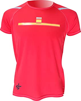 EKEKO SPORT Camiseta ESPAÑA Manga Corta DE Running, Padel, Senderismo, Tenis,Color Rojo