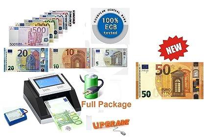 Detector de billetes falsos con pila, con certificación del BCE