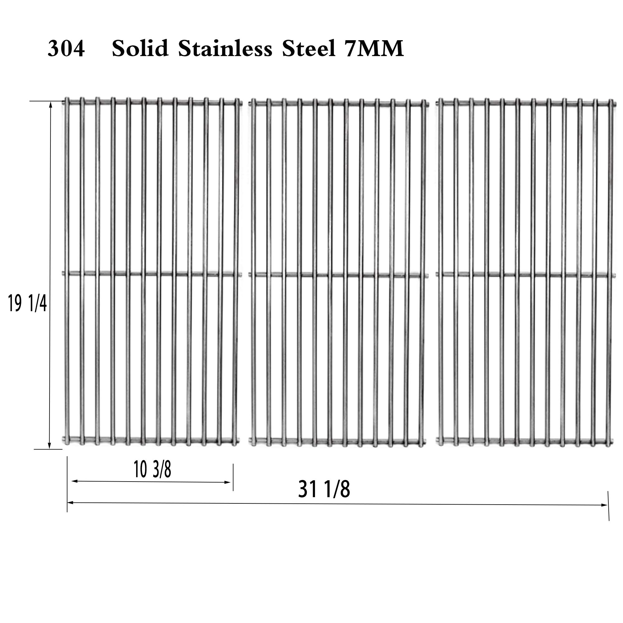 S591SC (3-Pack) Stainless Steel Wire Cooking Grid Grates Replacement for Select Gas Grill Models by Brinkmann, Charmglow, Costco, Jenn Air, Members, Nexgrill and Others (19 1/4 Stainless Steel) by Votenli