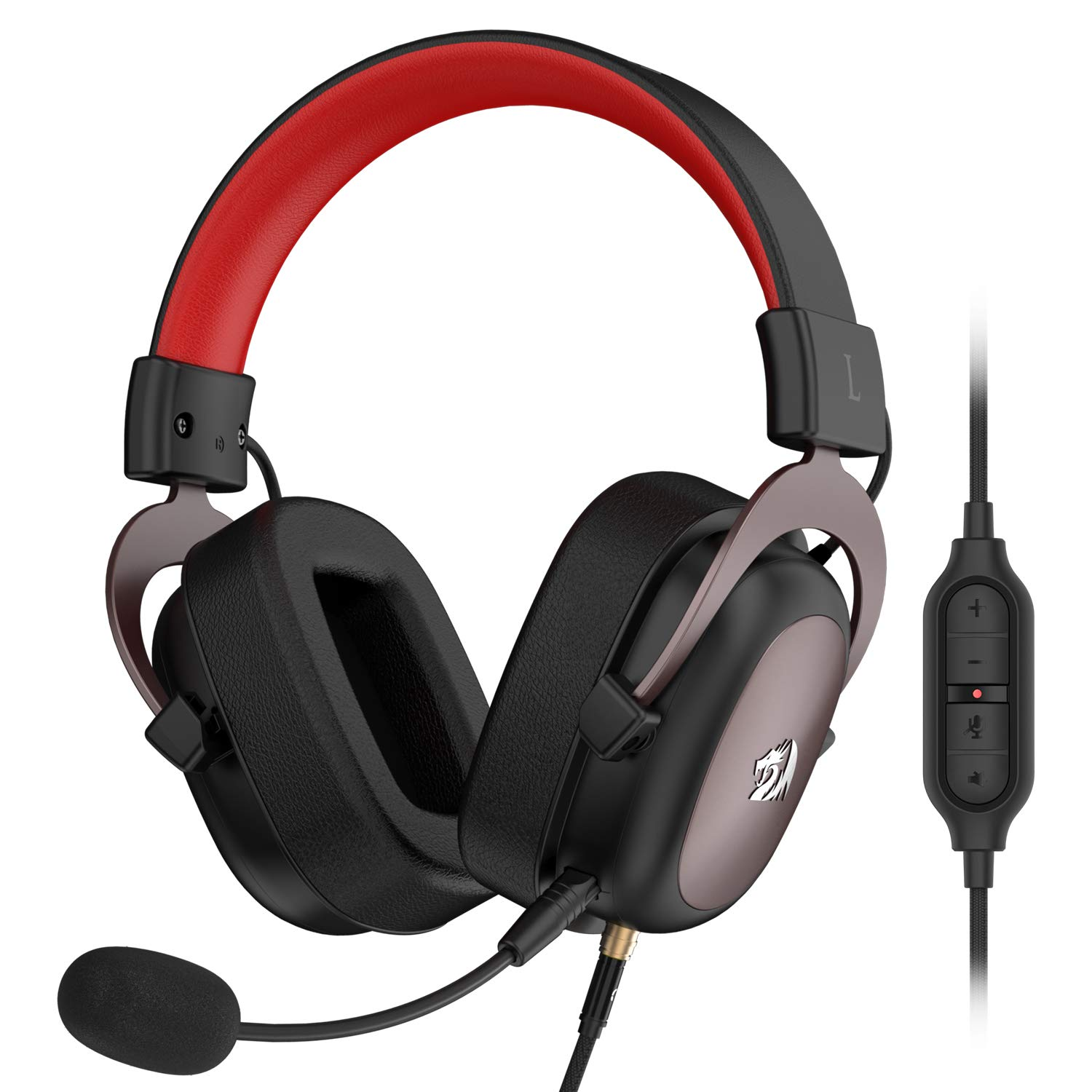 Redragon H510 Zeus Wired Gaming Headset - 7.1 Surround Sound - Memory Foam Ear Pads - 53MM Drivers - Detachable Microphone - Multi Platform Headphone - Works with PC/PS4 & Xbox One, Nintendo Switch by Redragon