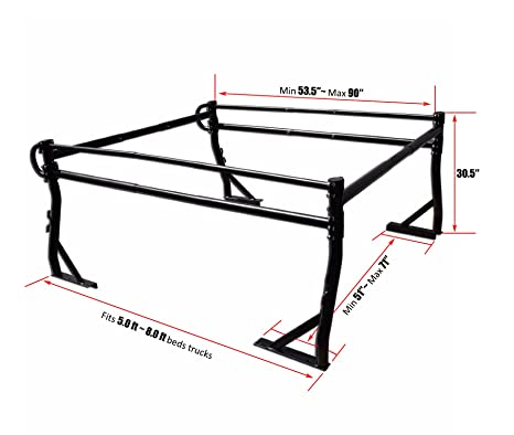 Amazon Com Aa Racks Model X38 Short Bed Truck Ladder Rack Side Bar