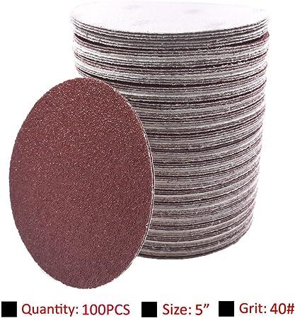 100X Grit 150 2inch Abrasive Sand Paper Sanding Discs Sander Pads Hook Loop Set