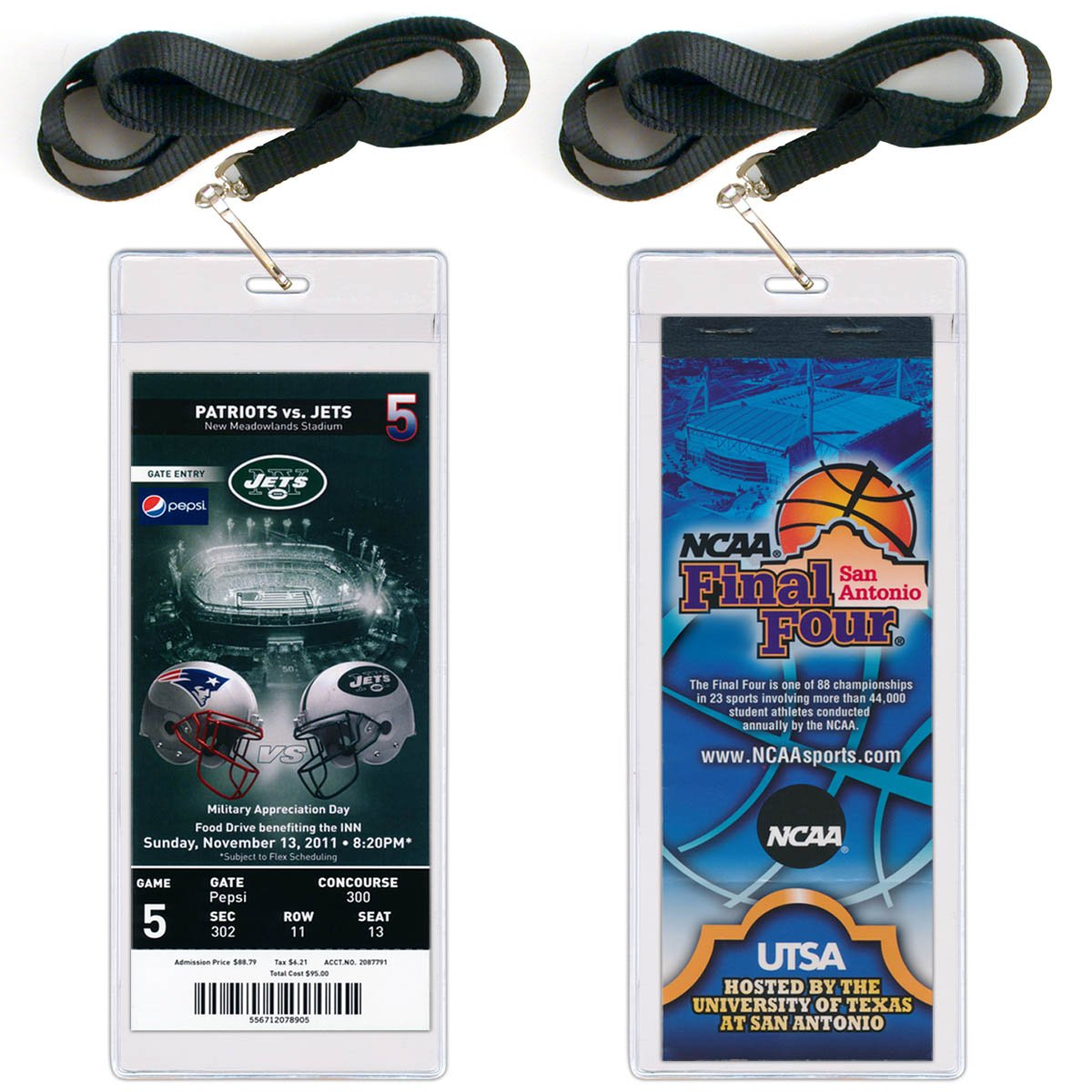 StoreSMART - Event Ticket Holders with Lanyard - 3 x 8 - 5-Pack - LY3019S-5 StoreSMART®