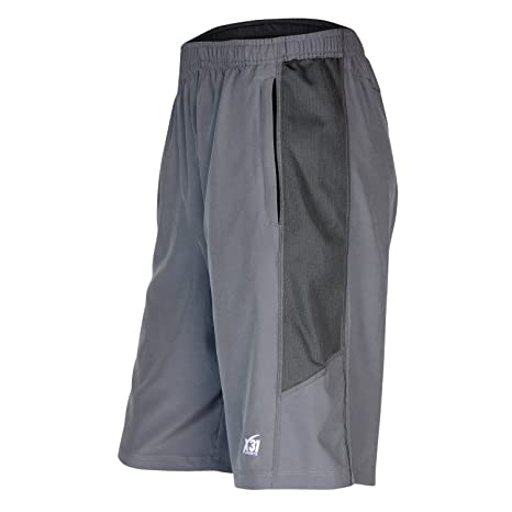 5ce34c97bec85 X31 Sports Mens Athletic Shorts with Zipper Pockets for Running, Basketball,  Gym (Grey