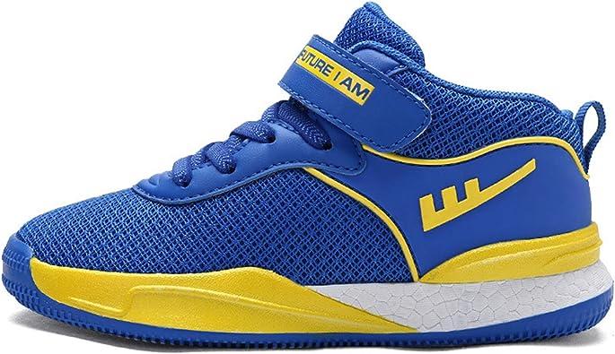 Zapatillas de Baloncesto para niños con Velcro Zapatillas Deportivas de Malla Transpirable Patchwork Boy Entrenadores de Entrenamiento Informal Zapatillas de Correr: Amazon.es: Zapatos y complementos