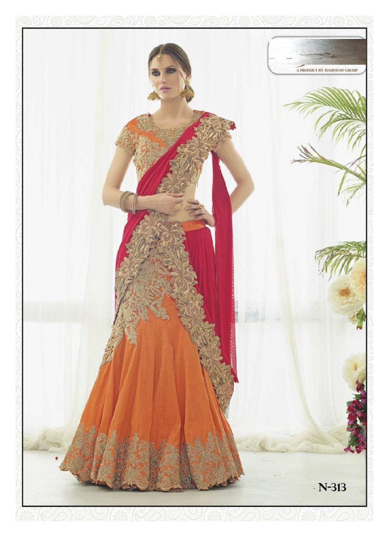 Bollywood Women Lehenga Choli Dupatta Ceremony Bridal Wedding Women Blouse Collection 617 13 by SHRI BALAJI SILK & COTTON SAREE EMPORIUM (Image #2)