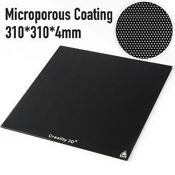 Creality Panel de placa de cristal para impresora 3D de 310 x 310 ...
