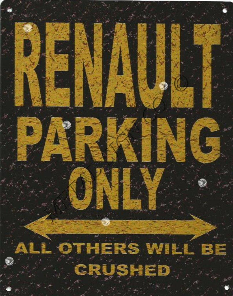 8 x 10in Renault señal de aparcamiento estilo rústico 8 x ...