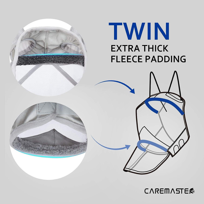 Harrison Howard CareMaster Pro Fliegenmaske UV-Schutz mit Ohrenschutz