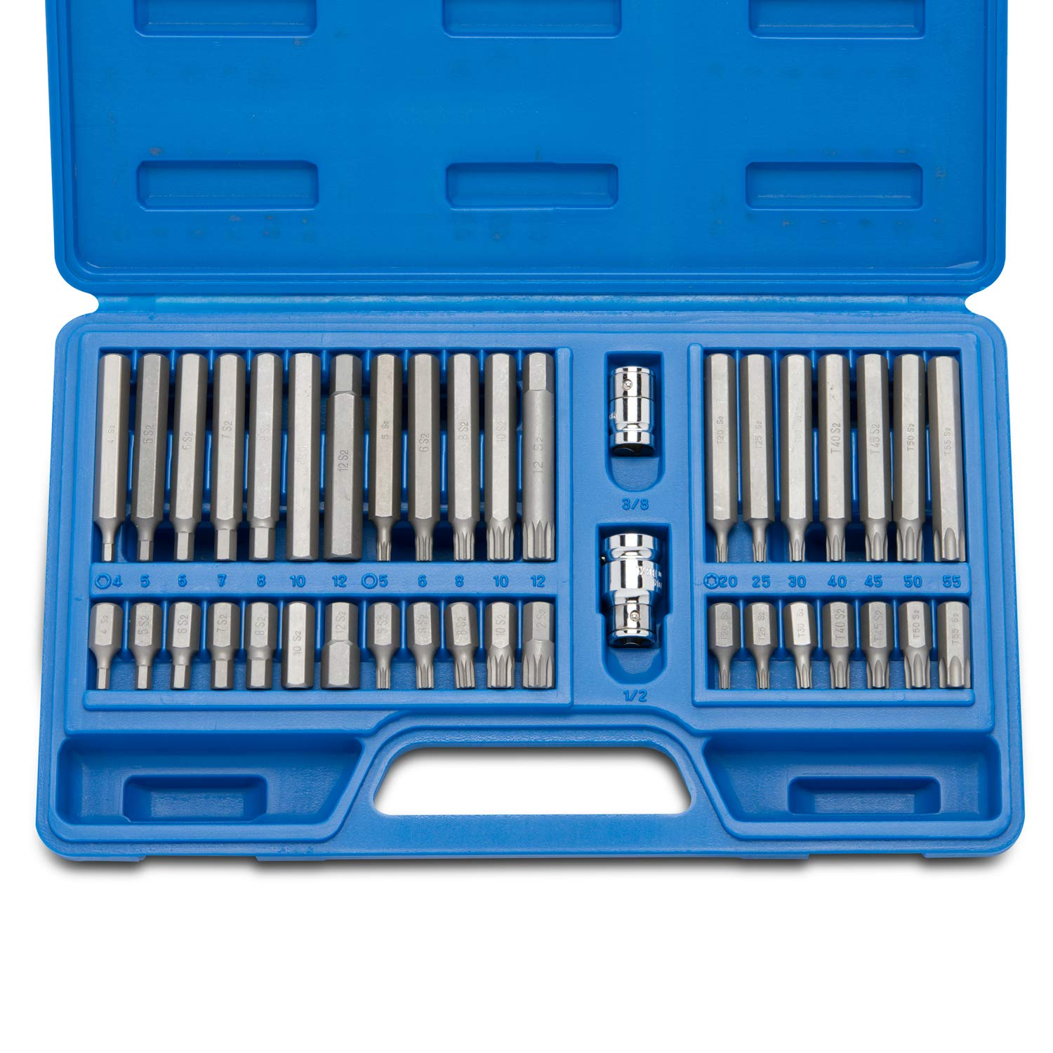 Neiko 10280B Combination Hex, Torx, and XZN Triple Square Impact Driver Socket Bit Set, 40-Piece Ridgerock Tools Inc