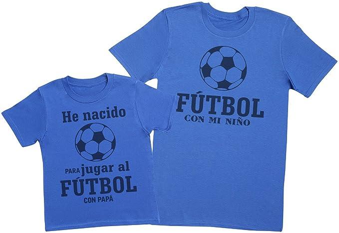 Zarlivia Clothing Fútbol con Papá - Regalo para Padres e Hijos - Camiseta de Niño y Camiseta de Hombre: Amazon.es: Ropa y accesorios
