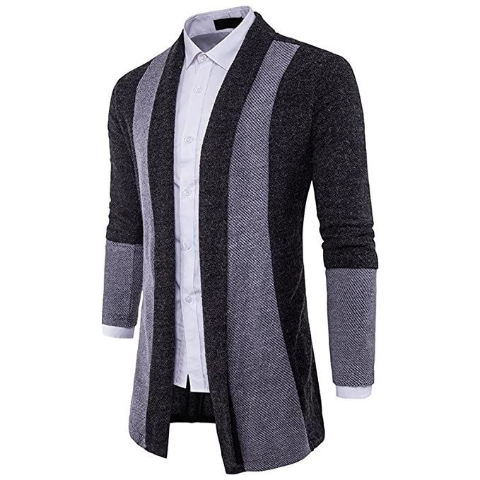 Farjing Coat for Men,Clearance Sale Mens Slim Fit Hooded Knit Sweater Fashion Cardigan