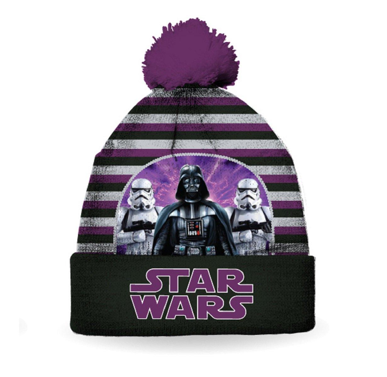Star Wars Boy's Darth Vader Pom Pom Toque / Hat / Beanie Size 4-6X Gertex