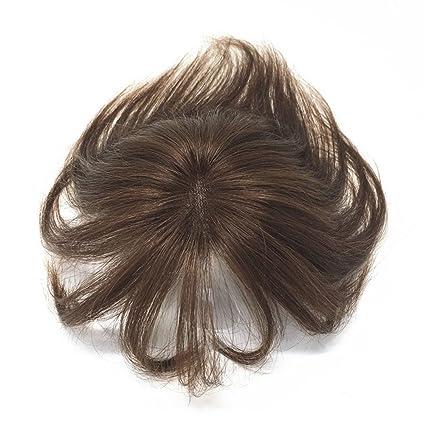 Remeeehi - Peluca de encaje con brazalete de aire para cabello humano invisible, transpirable,
