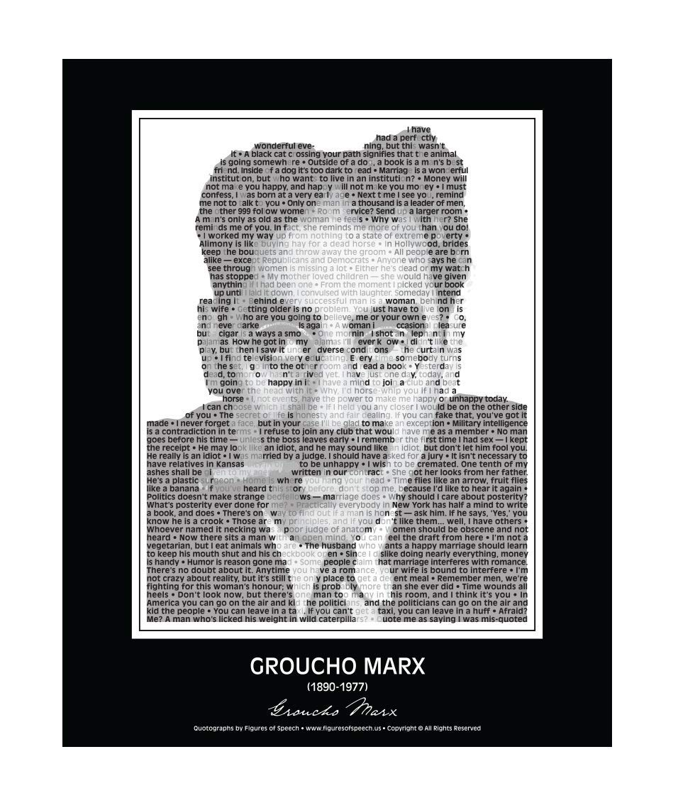 Amazoncom Hilarious Groucho Marx Poster In His Own Words