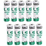 10 x Saft LS14500 AA Lithium Battery 3.6 V Li-SOCl2) 2600 mAh LS 14500 (Pack of 10)