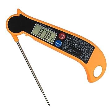 TEMPCARE Termómetro digital para carne, de lectura instantánea para barbacoas, termómetro electrónico termómetro de