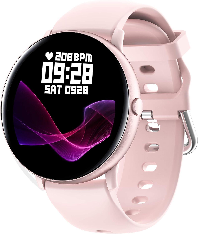 JINPX Smartwatch,Reloj Inteligente para Mujer con Termómetro,Recordatorio del Ciclo Fisiologico,Monitor de Frecuencia Cardíaca,Pulsómetro,8 Mode Deporte,Pulsera Actividad Inteligente para Android iOS