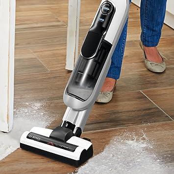 Bosch BBH6P25K aspiradora de pie y escoba eléctrica Sin bolsa Negro, Blanco - Aspiradora escoba (Sin bolsa, Negro, Blanco, Seca y húmeda, 50-60 Hz, Ión de litio, 2,52 V): Amazon.es: Hogar