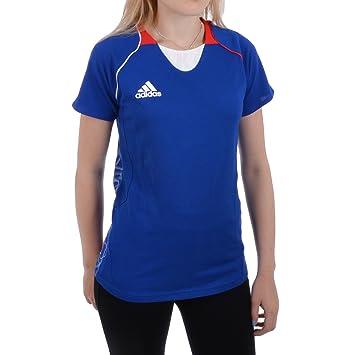 Adidas Performance France - Camiseta de Running para Mujer, algodón, Color Azul, Color Azul, tamaño 6: Amazon.es: Deportes y aire libre