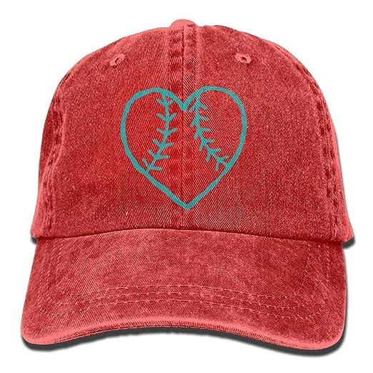 2018 Adult Fashion Cotton Denim Baseball Cap Softball Heart Classic ... 6955efd55ae