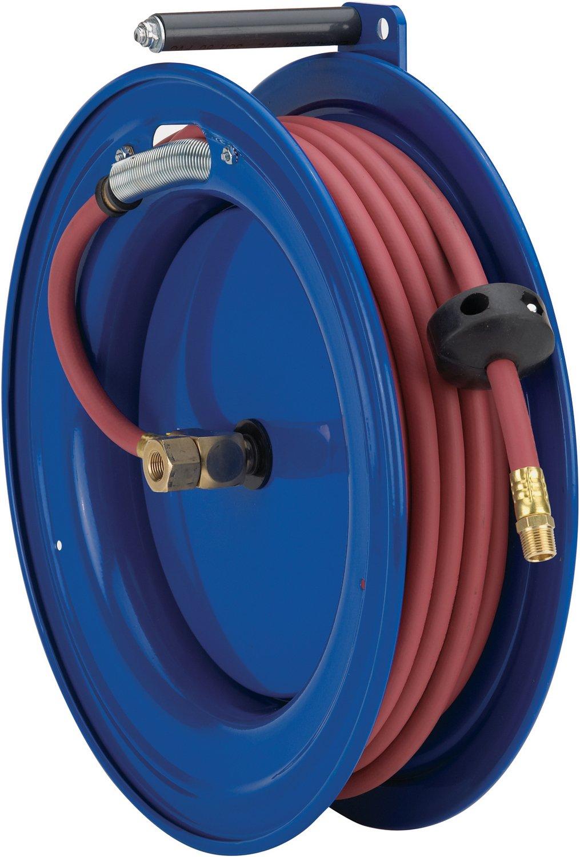 left  mount low pressure 25/'  hose 300 PSI Coxreels SL15-L325 Spring Rewind Hose Reel for air//water: 3//8 I.D. 25  hose