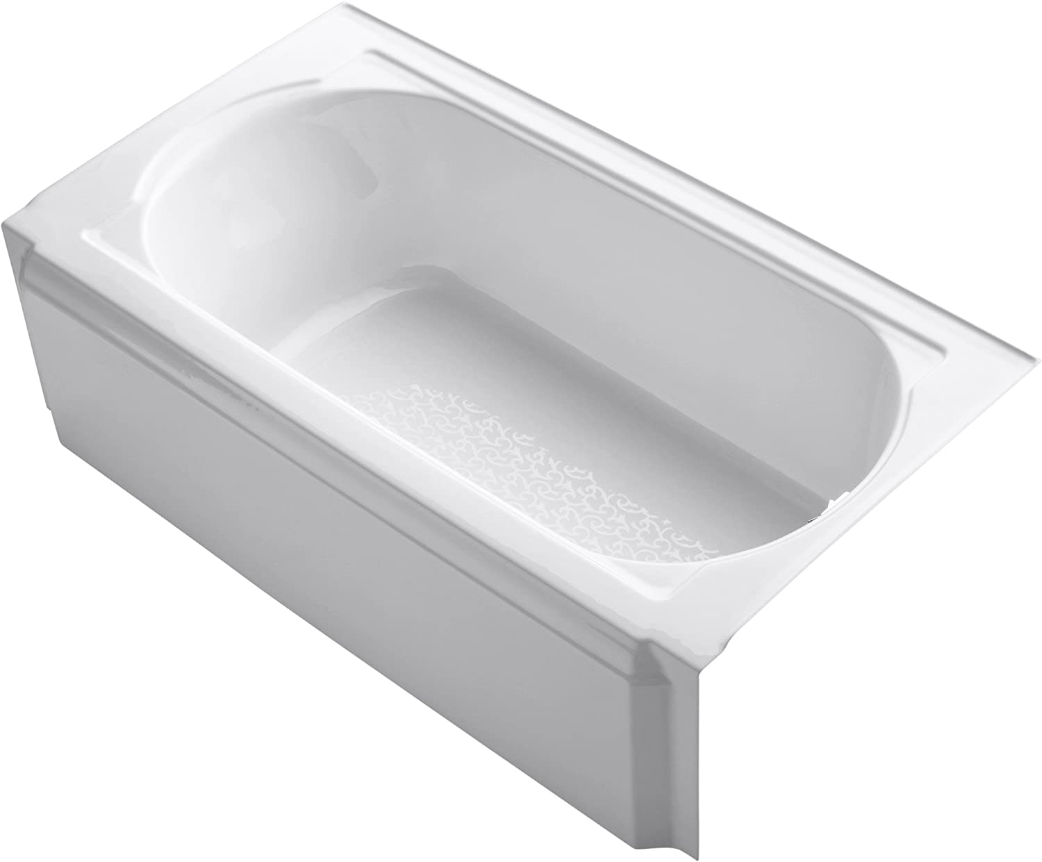 KOHLER K-722-0 Memoirs 5-Foot Bath, White
