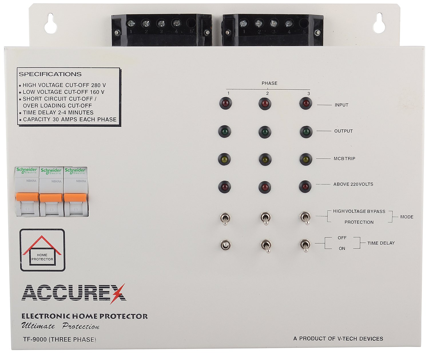 Accurex Tf 9000 Three Phase Home Voltage Protector Grey For Entire Circuit Office 30 Amps Improvement
