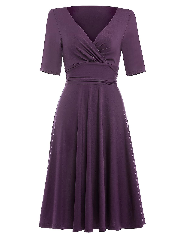 Belle Poque - Elegante vestido de verano para mujer, hasta debajo de ...