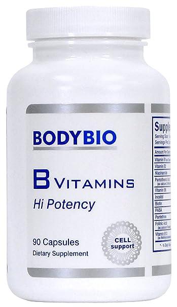 BodyBio - B Vitamins Hi Potency, 90 Capsules