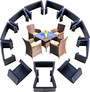 YG_Oline 12 Pcs Patio Furniture Clips, Black Rattan Furniture Clips Couch Large Clamps