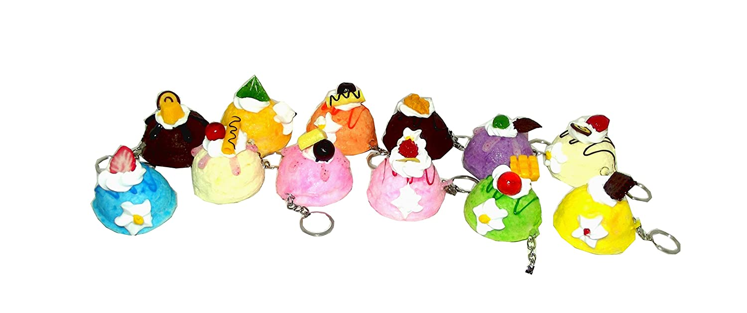 Squishies Decadent Ice Cream Top Soft Keychain, Assorted, 1 count