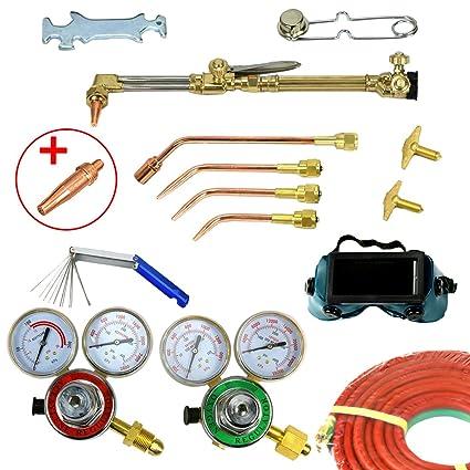 yaufey profesional oxígeno acetileno linterna Kit Gas Soldadura Soldador de corte y precisión de soldadura herramienta
