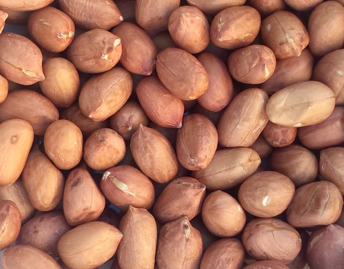 Pinstar Premium Raw Red Skin Peanuts, 5 Pounds