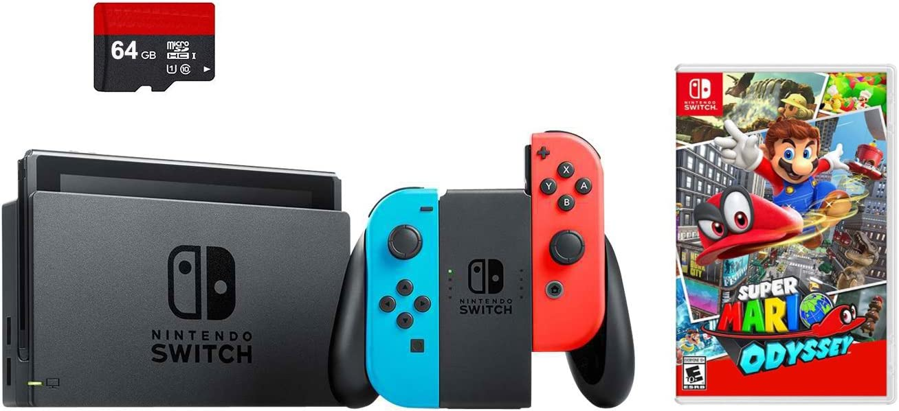 Amazon.com: Nintendo Switch 3 Items Bundle: Nintendo Switch ...