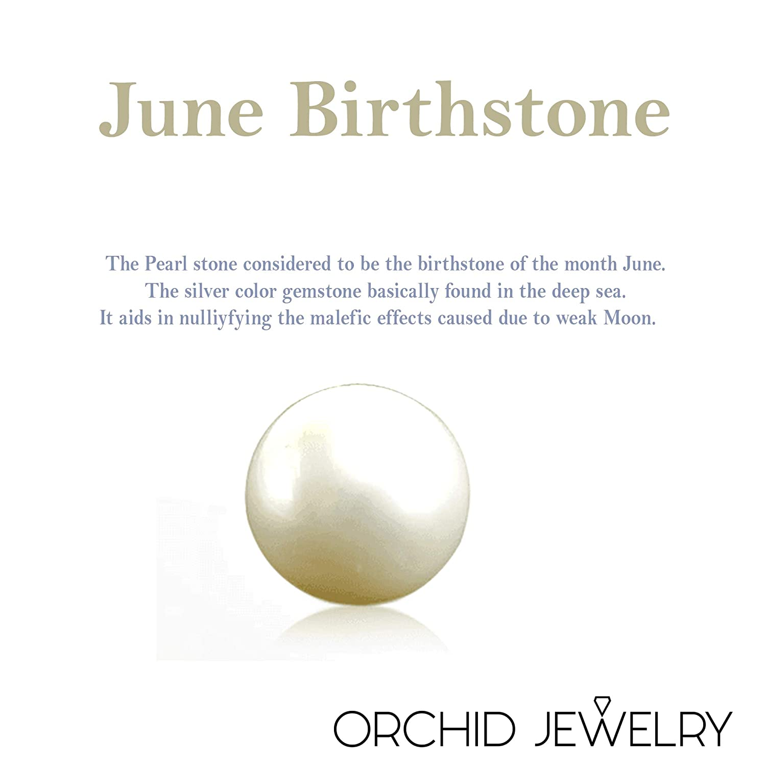 0e1afba19 8.50 Ct White Round Cut Pearl 925 Sterling Silver Stud Earrings For Women:  Nickel Free Cute And Simple Engagement Gift For Sister: Birthstone  Month-June By ...
