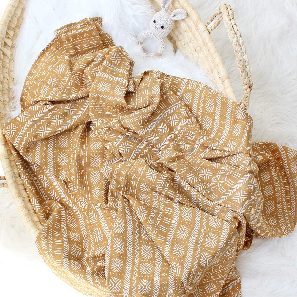 Cotone Bamb/ù 120cm x 120cm Unisex Panno di Copertura 2 Pack Morbido Mussole Neonato LifeTree Copertine in Mussola Regalo Perfetto per il Bambino