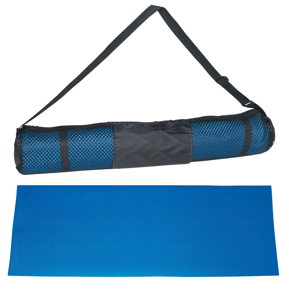 The shopping aisle All Purpose High Density Non-Slip Exercise Yoga Floor Mat with Carrying Case
