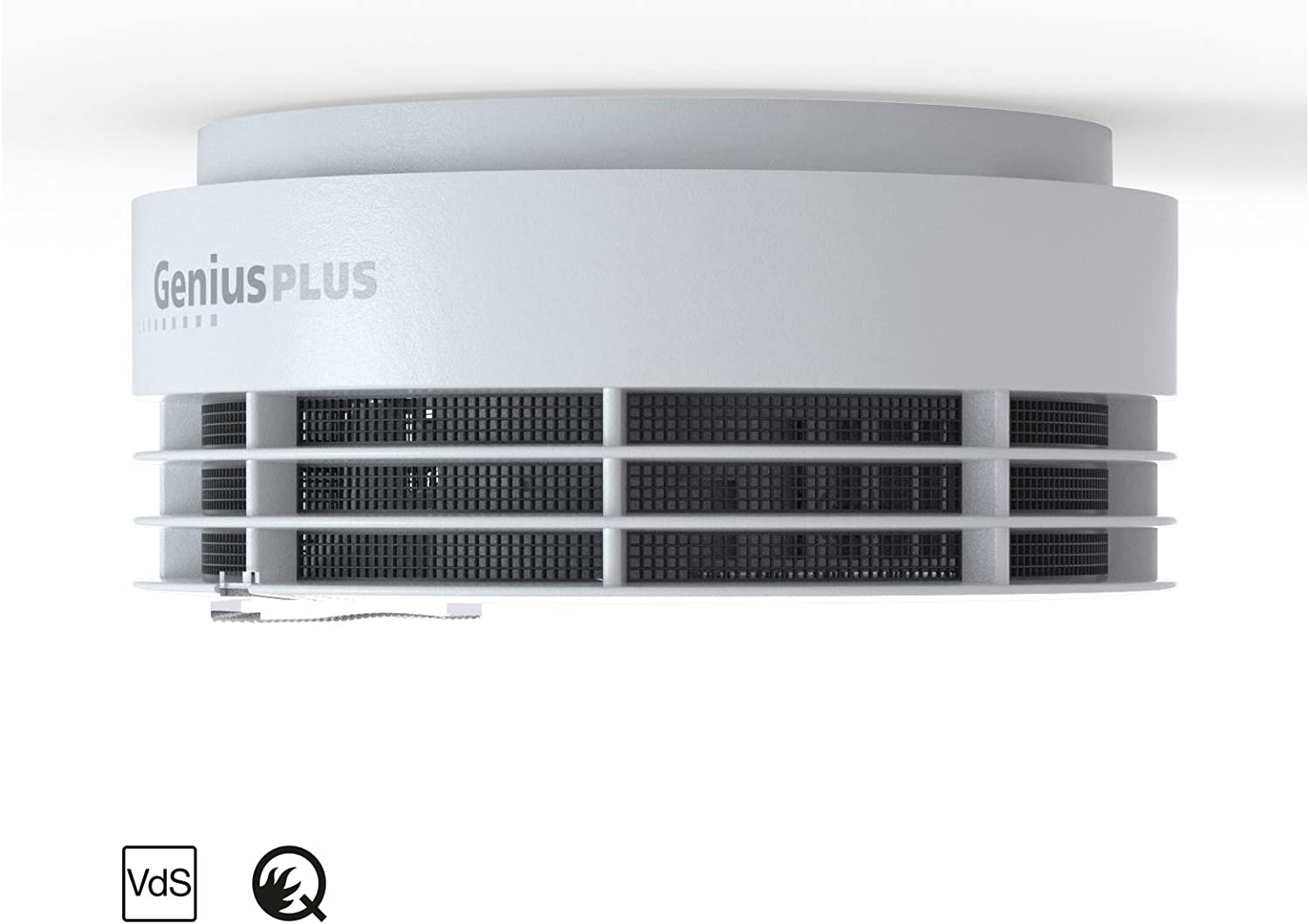 white 31-5000001-12-01 White LED Dims at Night 10/Year Service Life Hekatron Genius H Smoke Alarm with Optimised Test Button and Built-in Battery
