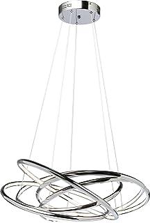 Kare 39162 Hängeleuchte Saturn LED Chrome Big, Grosse, Moderne  Pendelleuchten/Pendellampen, Silber