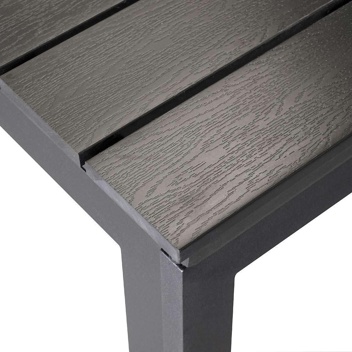 Gartentisch ausziehbar kunststoff  XXL Aluminium Gartentisch ausziehbar 280/220x95cm Ausziehtisch ...