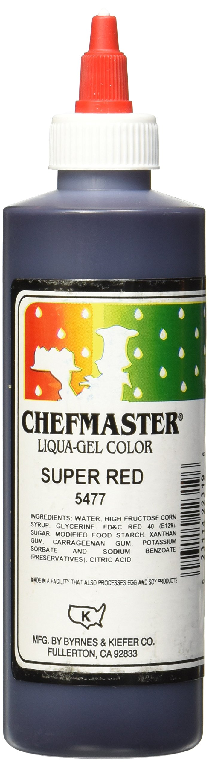 Chefmaster Liqua-Gel Food Color, 10.5-Ounce, Super Red