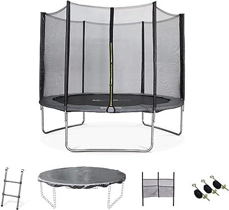 Alices Garden - Cama elastica, Trampolin de 305 cm, aguanta hasta 150 kg (estructura reforzada). Incluye: escalera + funda protectora + bolsillo para zapatos + kit de anclaje - Mars XXL: Amazon.es: Deportes y aire libre