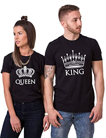 39542f0bc0b8 King Queen Shirts Couples T Shirt Matching Couple Shirts His and Her T- Shirts Crown