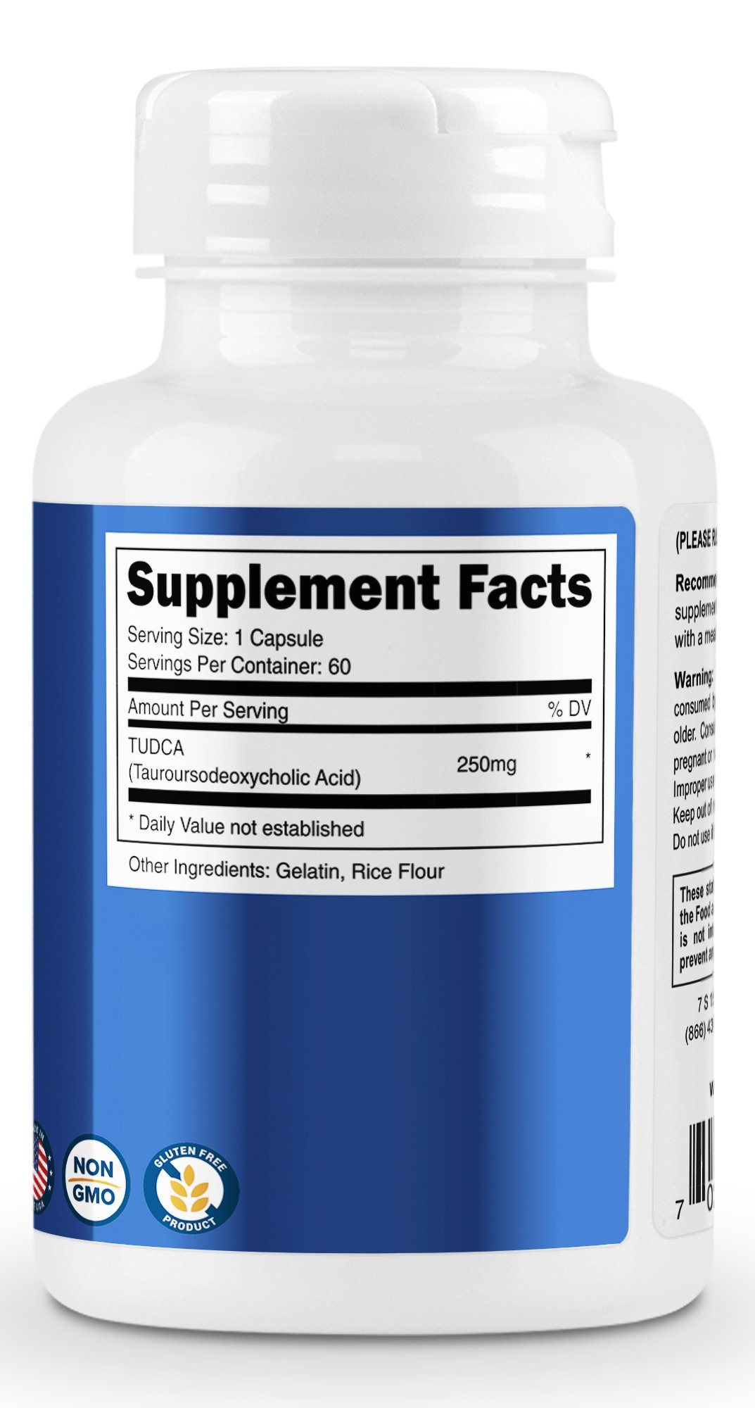 Nutricost Tudca 250mg, 60 Capsules (2 Bottles) by Nutricost (Image #4)