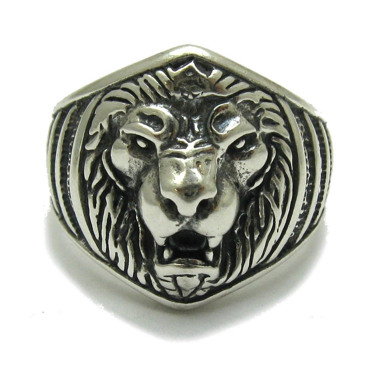 Bague en argent massif 925 Lion R001708