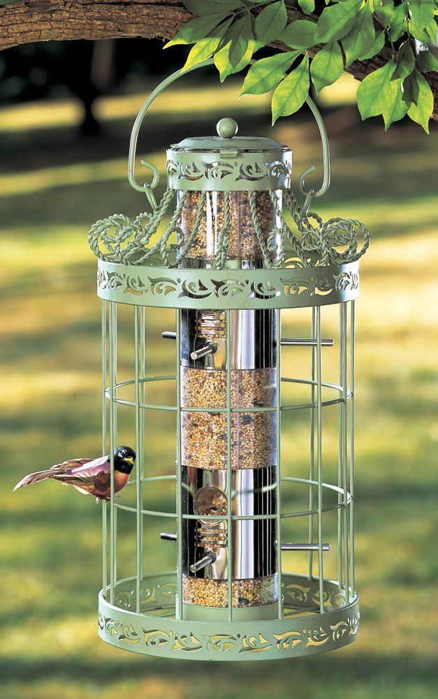 Generic NV_1008003155_YC-US2 EEDEREED GREEN COLOR FILL WILD BIRD SEED N COL SQUIRREL PROOF UIRRE FEEDER EASY FILL OF ME METAL BIRDFEEDER WILD BI