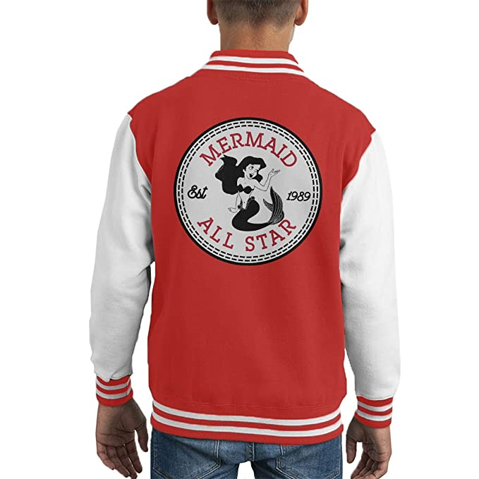 c9403d677bbf Little Mermaid Ariel All Star Converse Logo Kid s Varsity Jacket ...